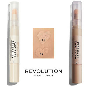 Details about Makeup Revolution Fast Base Concealer C1 C2 Under eye  concealer