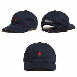 9bd248dc827 The Hundreds Dad Hat Flower Rose Embroidered Curved Brim Baseball ...