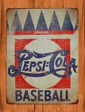 "TIN-UPS TIN Sign ""Pepsi Cola Baseball"" Vintage Soda Ad Garage Alcohol"