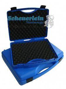 universal kunststoff koffer blau mit schaumstoff 3 gr en de qualit t werkzeug ebay. Black Bedroom Furniture Sets. Home Design Ideas