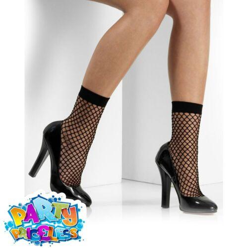 Ladies Fishnet Ankle Socks Adult Fashion Black Mesh Net Hosiery Outfit Accessory