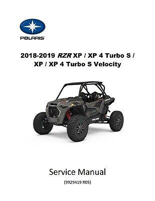 4 Turbo S Model Service Repair Manual 2018-2019 Polaris RZR Turbo XP S Model