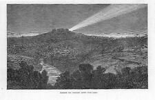 1870 FRANCE PRUSSIAN WAR: Huge Search Light over PARIS  (233b)