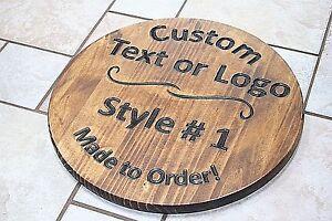custom circular round wood sign cnc engraved bar sports