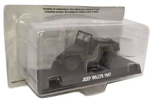 Carabinieri-Jeep-Willys-1947-1-43-Diecast-Esercito-Italiano