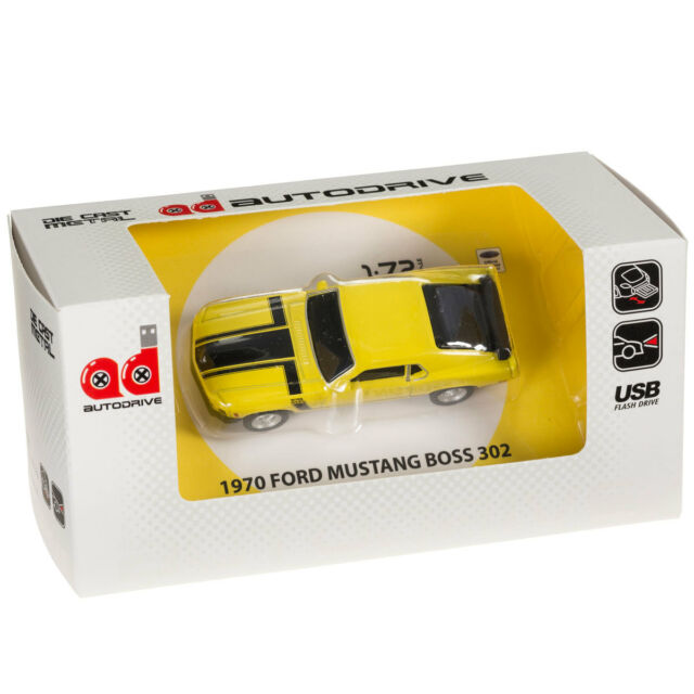 Ford Mustang Boss 302 Car USB Memory Stick Flash Pen Drive 8gb - Yellow for  sale online  5137827346
