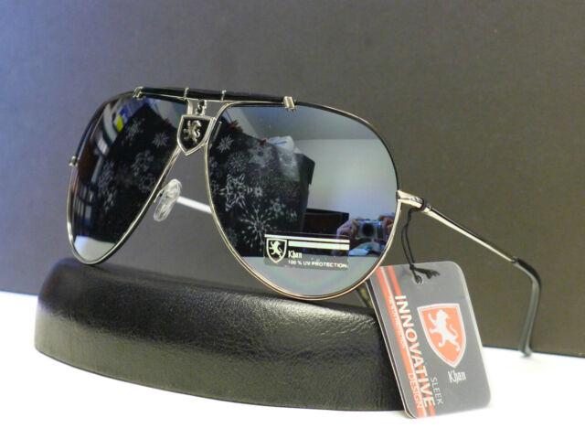 New Khan Mens Spring Hinge Aviator Sunglasses Retro Shades W Microfiber Bag 3450