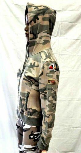 Per Reprimere 1158 Felpa Vintage Donna Slavato Militare Mimetico Bosco Iw1zcBqX
