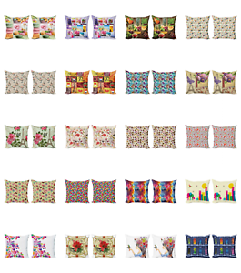 Ambesonne Sketch Cushion Cover Set of 2 for Couch and Bed in 4 Sizes