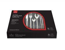 Grunwerg CHOPSTICK Stainless Steel 24 piece CUTLERY set Knife Fork Spoons x6 per