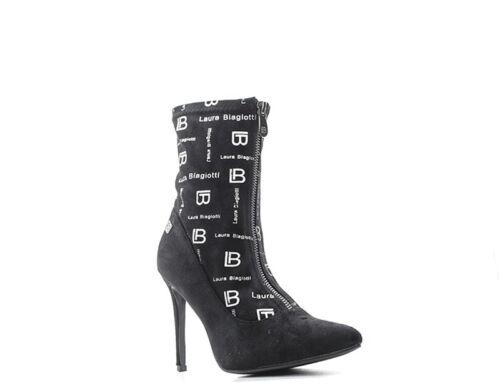 Femme Tissu Chaussures Biagiotti Nero ne Laura 5034mic q18E87F