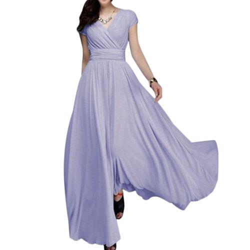 Boho Chiffon Long Prom Dress Bridesmaid Wedding Evening Formal Party Ball Gown