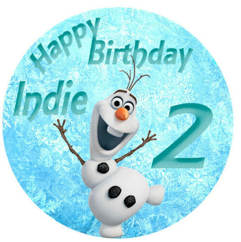 Olaf Frozen Personalised Edible Image REAL Icing Large Cake Topper mutliple size