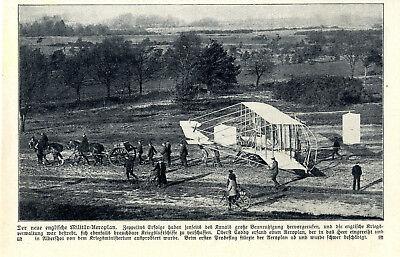 Der Neue Englische Militär-aeroplan Oberst Coddy Aldershot Probeflug Von 1909 Traveling Transport