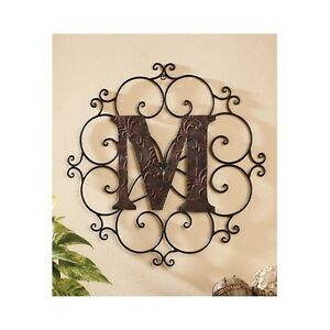 Metal Medallion Wall Art large metal letter wall art decorative medallion alphabet sign