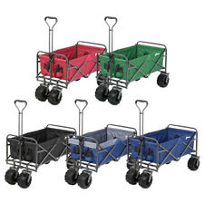 Folding Wagon Collapsible Garden Beach Utility Push Cart Heavy Duty Portable