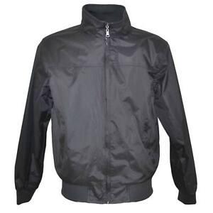 Giubbotto giacca uomo nero paravento con zip frontale impermeabile con elastico