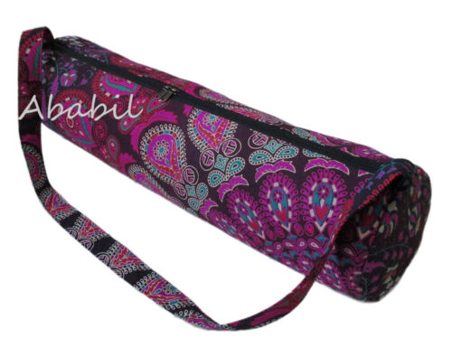 Indian Mandala Multicolored Hippie Yoga Mat Carrier Bag with Shoulder Strap USA
