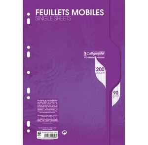 [Ref:2696C-3] CALLIGRAPHE Lot de 3 Feuillets mobiles s/film 21x29,7 200p