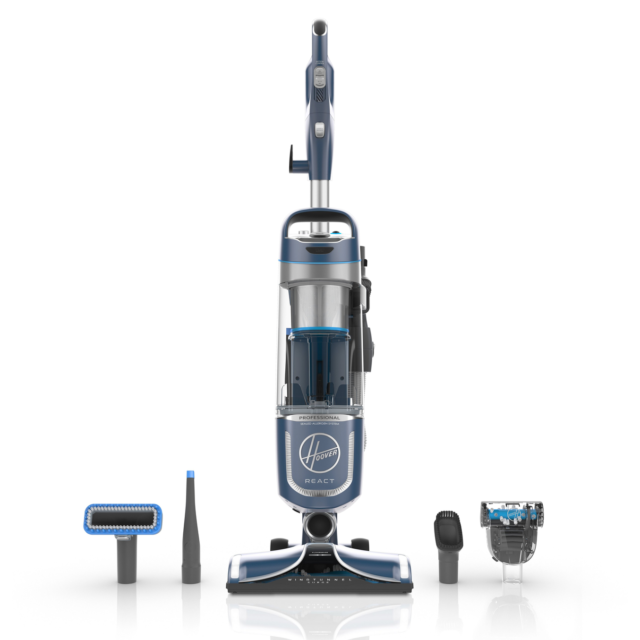 Hoover React Professional Pet Plus Upright Vacuum Cleaner - Blue