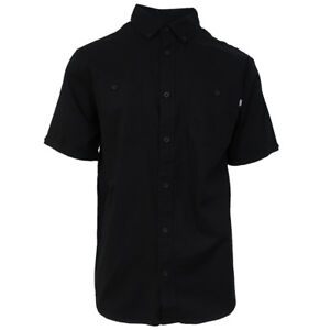Vans-Off-The-Wall-Men-039-s-Black-Walkover-2-J-S-S-Woven-Shirt-Retail-44