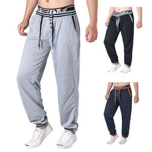 New-Mens-039-Casual-Long-Pants-Fitness-Lightweight-Sweatpants-Long-Trousers