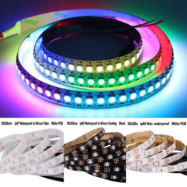 WS2812B LED-Streifen 5m WS2811 RGB Licht SMD 5050 Individuell Adressierbar 5V BG