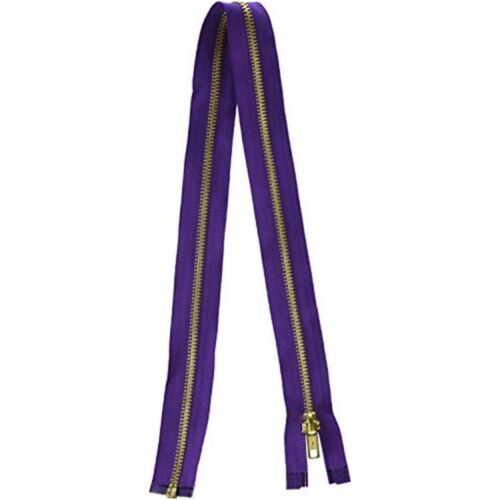 "Coats Fashion Metal Brass Separating Zipper 24/""-purple"