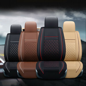 Front Rear Car Pad Cushion Seat Covers 5 Seats Fits