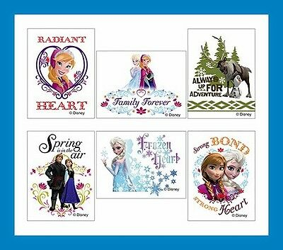 12 Disney Frozen Temporary Tattoos Anna Elsa Party Favors