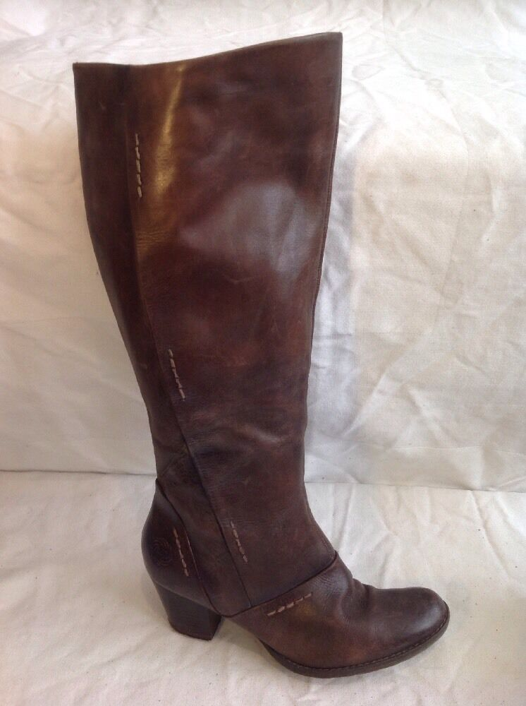 Marco Tozzi Brown Knee High Leather Boots Size 37