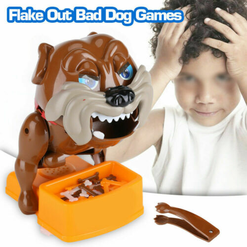 Flake Out Bad Dog Bones Cards Tricky Toy Children Gift Party Games Bite Hand Toy