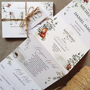 Personalised-Wedding-Invitations-Evening-Invites-Winter-Woodlands-Handmade