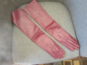 Opera-gloves-leather-wine-burgundy-size-7-21-inch-long