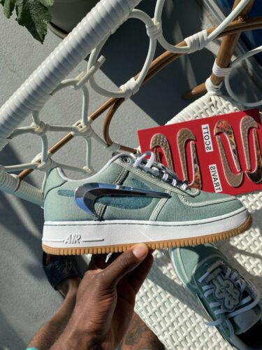 Travis Scott Air Force 1 White( Cactus Green Dyed)