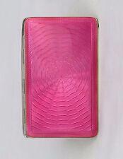 Art Deco Pink Guilloche Enamel & Silver Gilt Cigarette Case Cohen & Charles