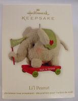 2012 Hallmark Christmas Ornament Lil Peanut Baby's First Christmas Elephant
