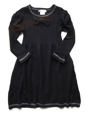 New Girl Deux Par Deux Antracite Black Silver Knit Holiday Dress Size 10
