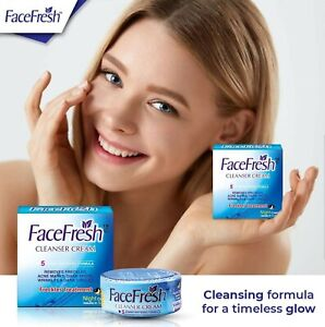 Face Fresh Cleanser Cream. 5 X Extra Whitening Formula, Results In Just 5 Days.