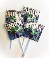 12 Incredible Hulk Vintage Lollipops Candy For Party Favors Made In The U.s.a