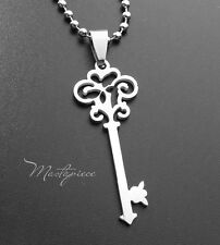 Titanium Steel key pendant necklace - C