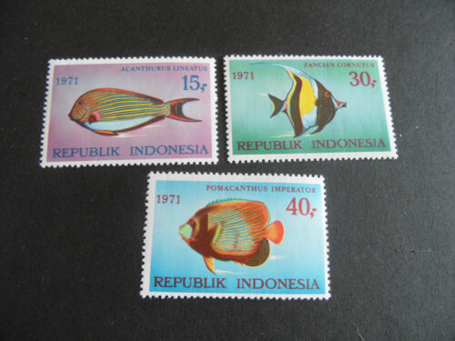 INDONESIA 1971 SG 12941296 FISHES 1ST SERIES MNH