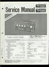 Original Factory Technics/Panasonic SU-9600 Stereo Amplifier Service Manual