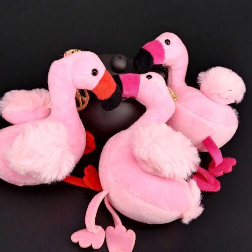 Flamingo Shape Plush Fashion Ornament Handbag Pendant Key Holder Key Chain