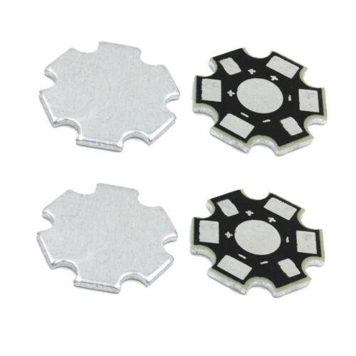 10PCS NEW 20MM 1W 3W 5W high Power LED Universal Aluminum Plate Heat Sink Black