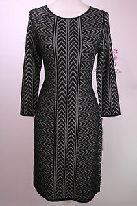 Calvin-Klein-New-Chevron-Stitch-Sweater-Knit-Dress-CD6W1315-Size-S-M-New-NWT