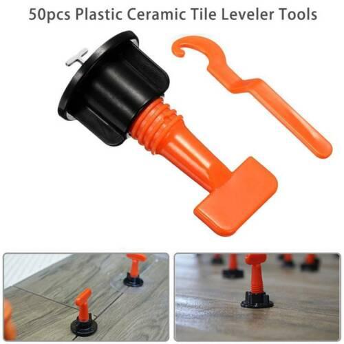 50-500pcs Floor Wall Ceramic Tile Leveler Tools Reusable Tile Levelling System