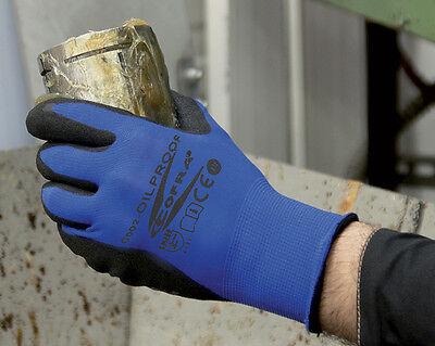 2 Paar! Oilproof Handschuhe Montagehandschuh Arbeitshandschuh Nitrilhandschuh