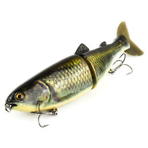 """ABT Lures Xtreme Wrap Suicide Glide Lipless Jointed Swimbait 9"""" 4.5oz - CARP"""