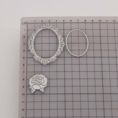 Rose Metal Cutting Dies Cuts Frame Stencils Embossing Scrapbooking Album DIY